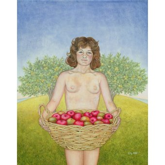 cuadros de retrato - Cuadro -An Apple a Day, Triptych Part Two- - Ditz