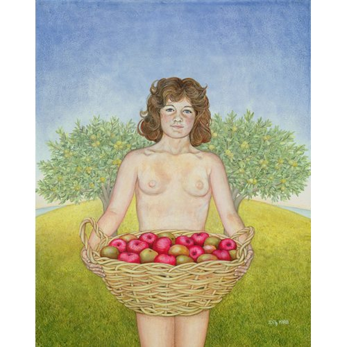 Cuadro -An Apple a Day, Triptych Part Two-