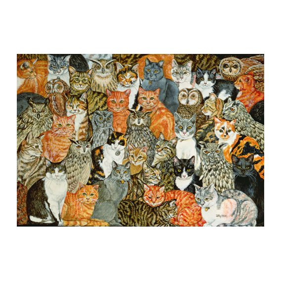 Cuadro -The Owls and the Pussycats-