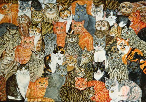 cuadros-modernos - Cuadro -The Owls and the Pussycats- - Ditz