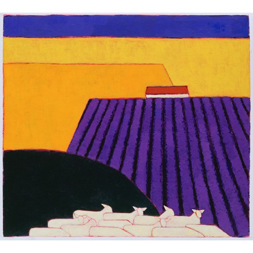 Cuadro -Sheep and Lavender Fields, 2004-