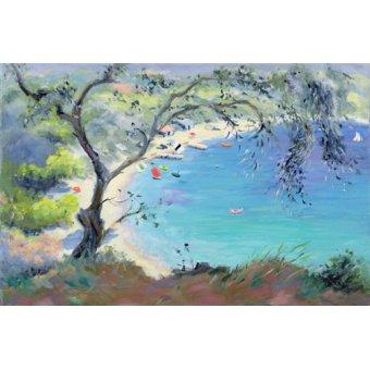 cuadros de marinas - Cuadro -Lichnos Bay, Epirus, Greece, 1995- - Durham, Anne