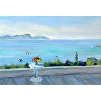 cuadros de marinas - Cuadro -A terrace looking out to sea- - Durham, Anne