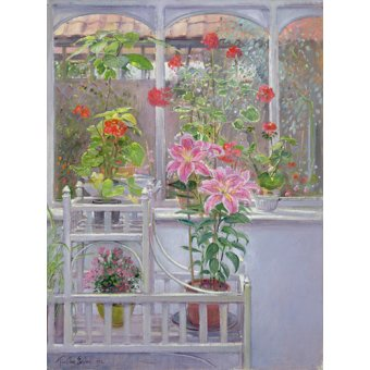 cuadros de bodegones - Cuadro -Through the Conservatory Window, 1992 - - Easton, Timothy