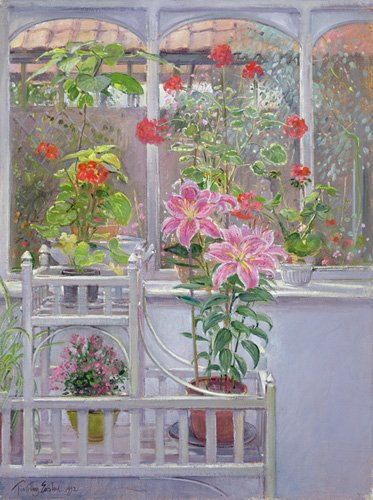 cuadros-de-bodegones - Cuadro -Through the Conservatory Window, 1992 - - Easton, Timothy