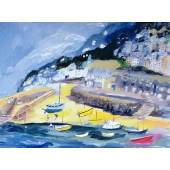 cuadros de marinas - Cuadro -Mousehole, Cornwall, 2005- - Elliot, Sophia