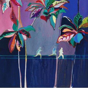 cuadros abstractos - Cuadro -Rainbow Run- - Evans, Charlotte