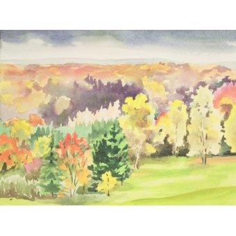 - Cuadro -  No.64 Autumn, Beaufays, Liege, Belgium - - Godlewska de Aranda, Izabella