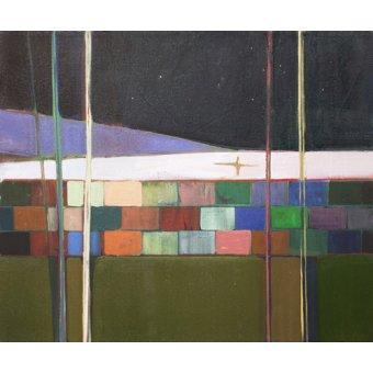 cuadros de paisajes - Cuadro -rainbow blocks- - Evans, Charlotte