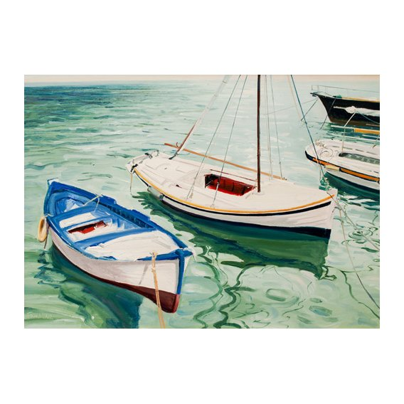 Cuadro -Boats at Skiathos, Greece-