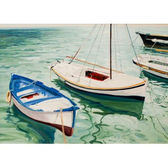 Hall - Cuadro -Boats at Skiathos, Greece- - Fandino, Anthony