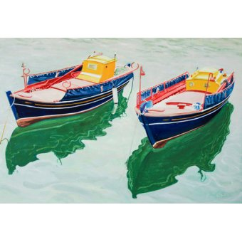- Cuadro -Boats at Skopelos, Greece- - Fandino, Anthony