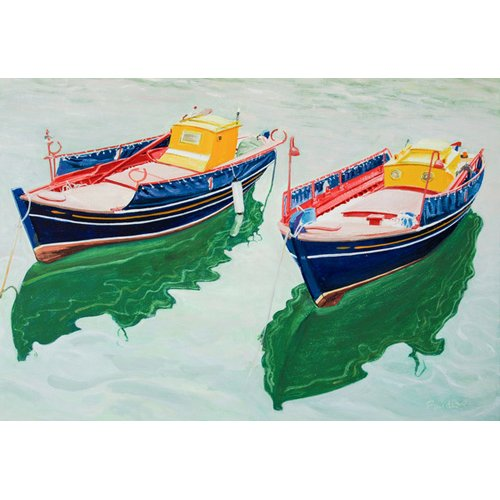Cuadro -Boats at Skopelos, Greece-