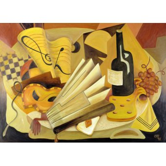 cuadros abstractos - Cuadro -  A Theatrical Dinner, 1998 - - Hubbard-Ford, Carolyn