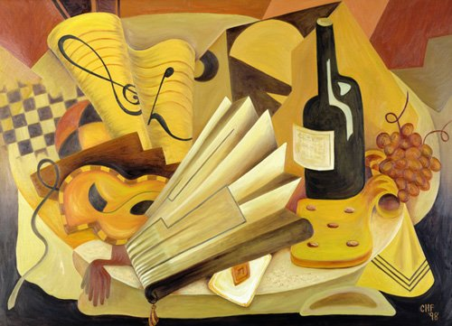 cuadros-abstractos - Cuadro -  A Theatrical Dinner, 1998 - - Hubbard-Ford, Carolyn