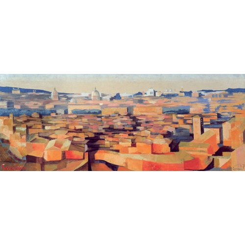 Cuadro -Rome, View from the Spanish Academy on the Gianicolo, Dusk, 1968-