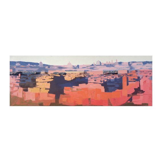 Cuadro -Rome, View from the Spanish Academy on the Gianicolo, Sunset, 1968-