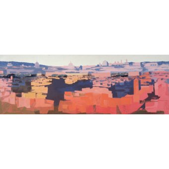 - Cuadro -Rome, View from the Spanish Academy on the Gianicolo, Sunset, 1968- - Godlewska de Aranda, Izabella