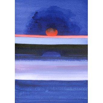 - Cuadro -Seascape, Sunset, Helsinki, 1991- - Godlewska de Aranda, Izabella