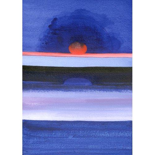 Cuadro -Seascape, Sunset, Helsinki, 1991-