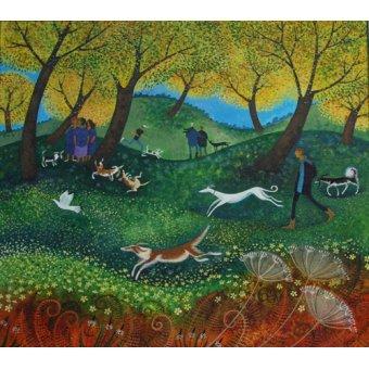 cuadros de paisajes - Cuadro -Doggie Pals, 2012- - Graa Jensen, Lisa