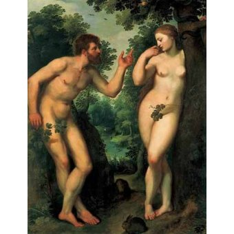 cuadros de desnudos - Cuadro -Adán y Eva- - Rubens, Peter Paulus