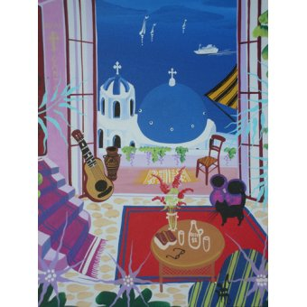 cuadros de paisajes - Cuadro -Santorini, 2012- - Hofer, Herbert