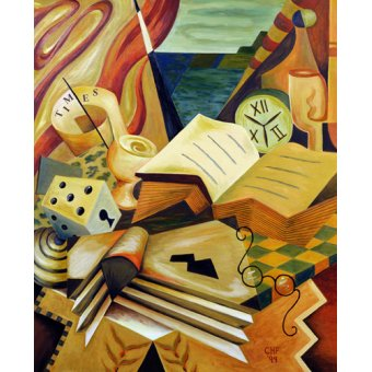 cuadros abstractos - Cuadro  -The Reading Corner, 1999- - Hubbard-Ford, Carolyn