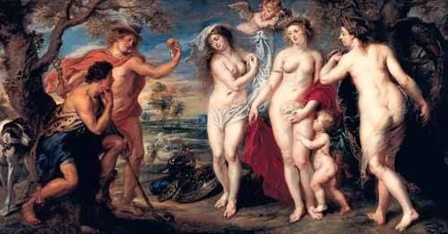 cuadros-de-retrato - Cuadro -Juicio de Paris- - Rubens, Peter Paulus