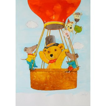 cuadros infantiles - Cuadro -In the Balloon- - Kaempf, Christian