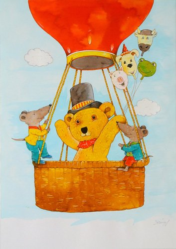 cuadros-infantiles - Cuadro -In the Balloon- - Kaempf, Christian
