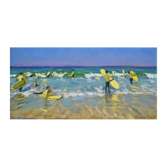 Cuadro - Surf School at St. Ives (oil on canvas) -
