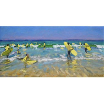 - Cuadro - Surf School at St. Ives (oil on canvas) - - Macara, Andrew