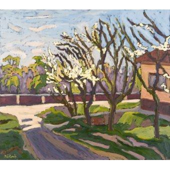cuadros de paisajes - Cuadro - In Spring Light, 2008 (oil on board) - - Martonfi-Benke, Marta