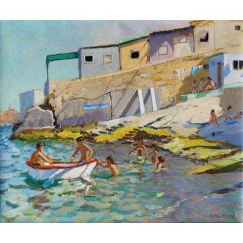 cuadros de marinas - Cuadro -The rowing boat,Valetta,Malta,2015- - Macara, Andrew