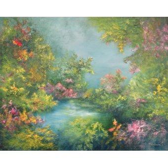 cuadros de paisajes - Cuadro -Tropical Impression, 1993- - Mane, Hannibal