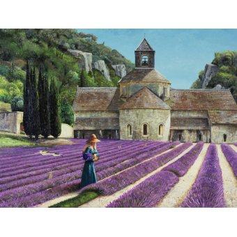 - Cuadro - Lavender Picker, Abbaye Senanque, Provence - - Neal, Trevor