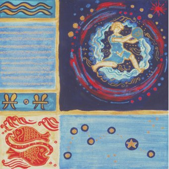 cuadros etnicos y oriente - Cuadro -Aquarius- - Manek, Sabira