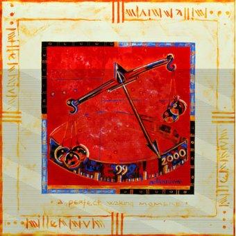 cuadros etnicos y oriente - Cuadro -Millennium 'Scales'- - Manek, Sabira