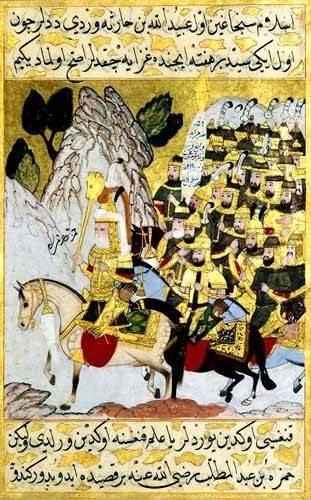 cuadros-etnicos-y-oriente - Cuadro -Miniatura de la copia original del Siyer-i-Nabi/1594-95- - _Anónimo Islámico