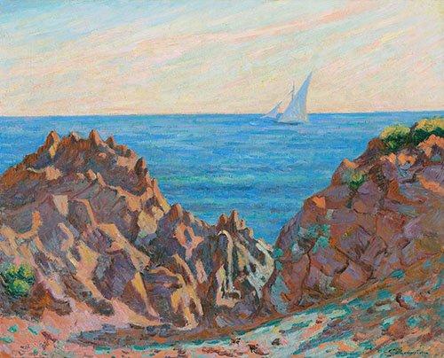 cuadros-de-marinas - Cuadro -Agay- - Guillaumin, Armand