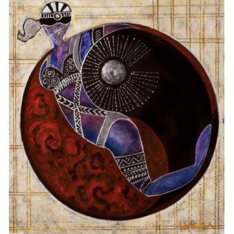 cuadros etnicos y oriente - Cuadro -Aries-Libra, 2009- - Manek, Sabira