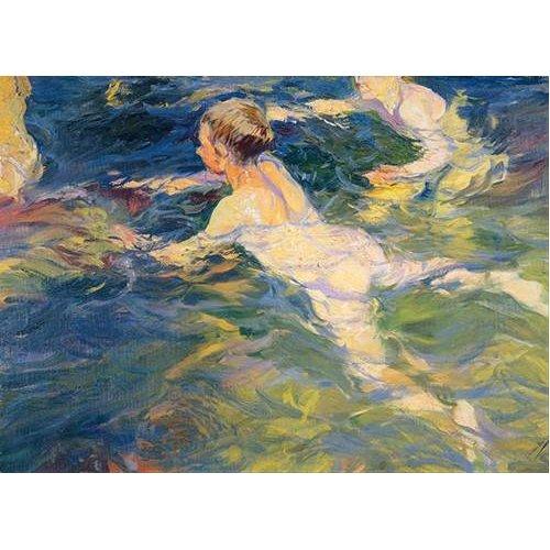 cuadros de retrato - Cuadro -Nadadores en Javea-