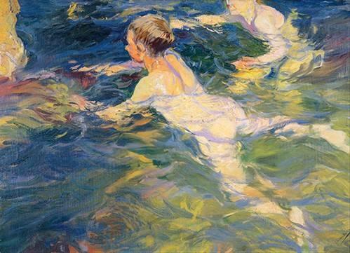 cuadros-de-retrato - Cuadro -Nadadores en Javea- - Sorolla, Joaquin