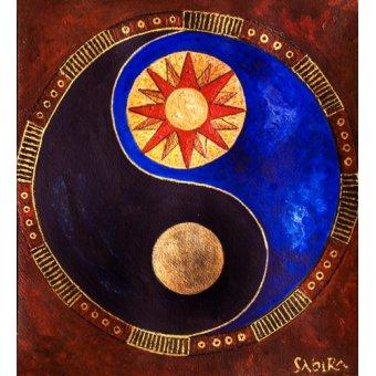 cuadros etnicos y oriente - Cuadro -Sun-Moon, 2009- - Manek, Sabira
