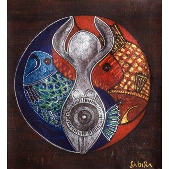 cuadros etnicos y oriente - Cuadro -Virgo-Pisces, 2009- - Manek, Sabira