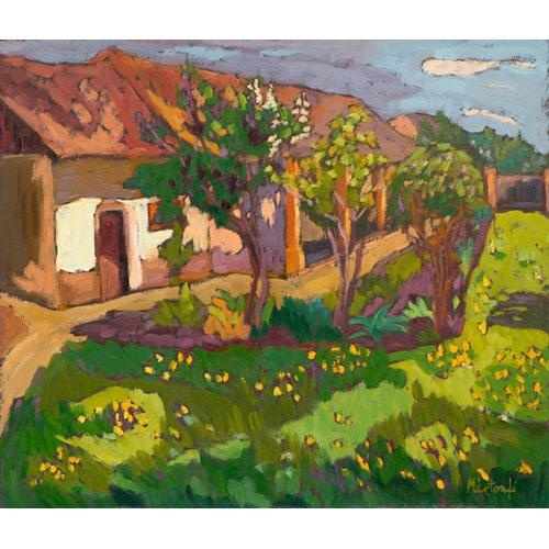 Cuadro -Garden in May, 2012 (oil on board)-