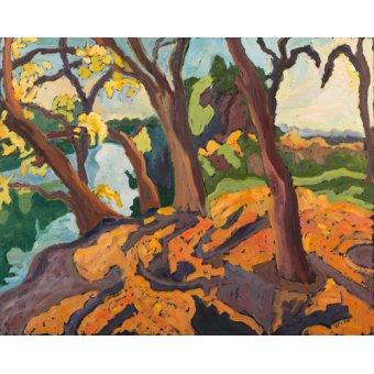 cuadros de paisajes - Cuadro -Ageing trees, 2009 (oil on board)- - Martonfi-Benke, Marta