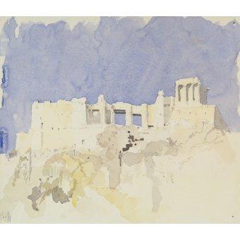 cuadros abstractos - Cuadro  -Acropolis, Athens, 1994 (w.c on paper)- - Millar, Charlie
