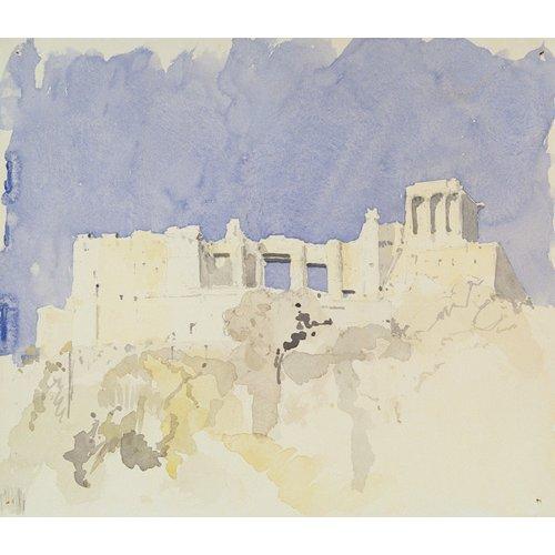 Cuadro  -Acropolis, Athens, 1994 (w.c on paper)-